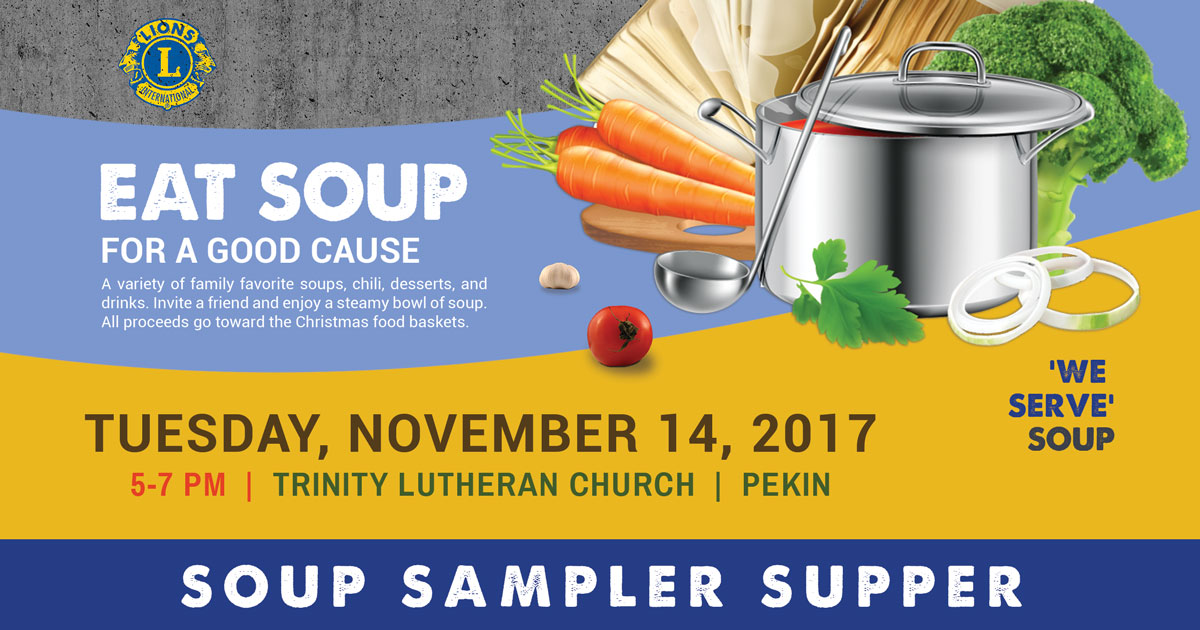 Pekin Lions Club 2017 Fall Soup Sampler Supper Fundraiser